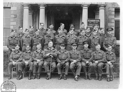 the home guard in front of their headquarters at althorpe