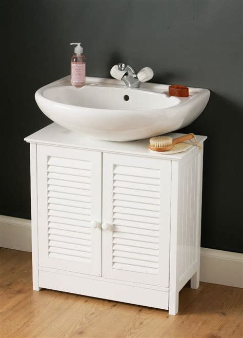 white wooden sink bathroom storage cabinet caddy