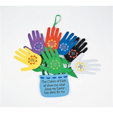 faith craft for handprint quot colors of faith quot flowers craft kit