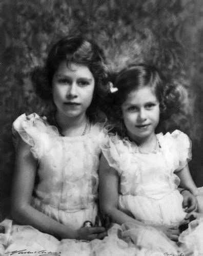 Queen Elizabeth and Princess Margaret as young girls
