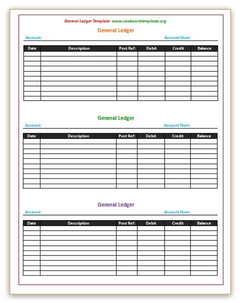 general ledger template http www savewordtemplates org