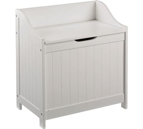 bench style laundry basket buy home monks bench style laundry box white at argos co