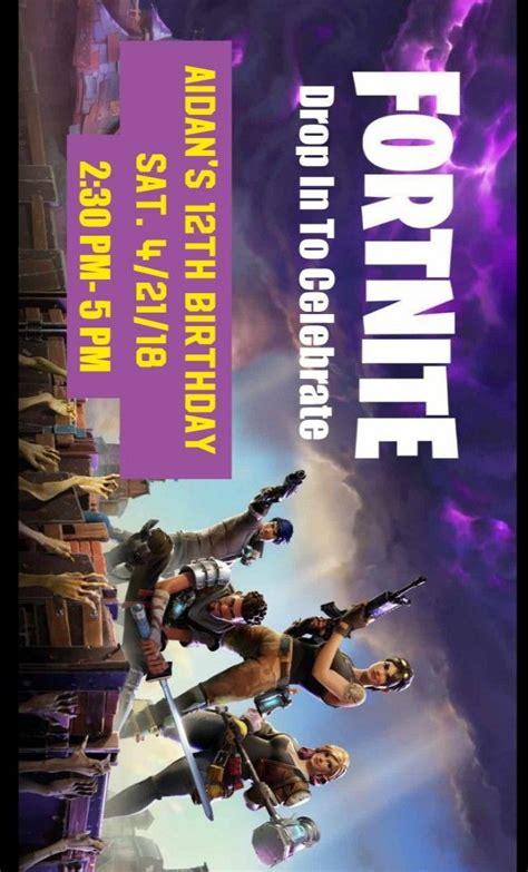 diy invitation  fortnite party background image