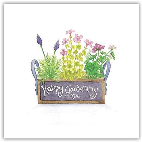 New Happy Garden by Happy Gardening 125mm Square Greetings Card Dorset The