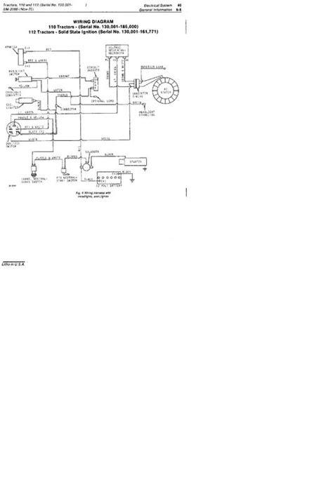 72 Jd 110 wiring problems - John Deere Tractor Forum - GTtalk