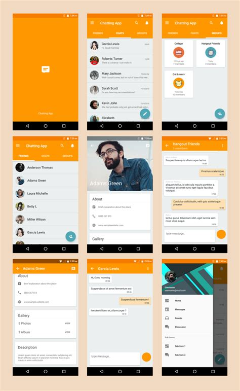 saf design themes app store android material ui template 2 1 by dream space codecanyon