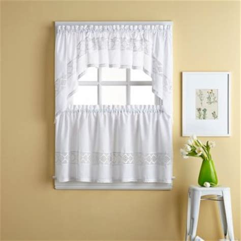 buy kitchen curtains valances and swags from bed bath beyond