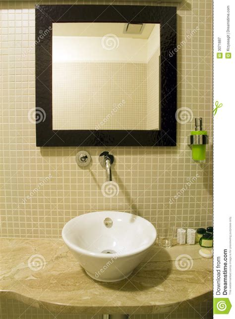 bathroom sink with mirror bathroom sink and mirror royalty free stock photography
