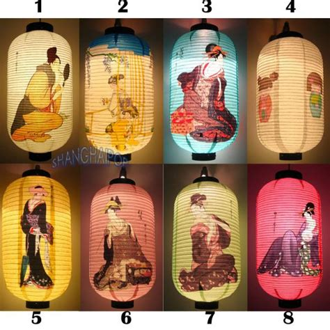 Japanese Paper Lanterns Craft - japanese ukiyoe paper lantern craft hanging