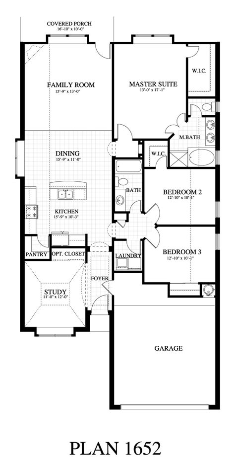 home floor plans sle plan 1652b saratoga homes austin