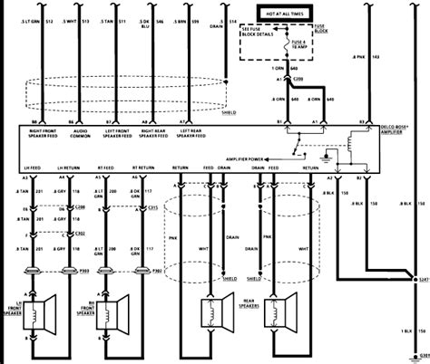 do you wiring diagram for a bose system from a envoy 2002 the diagrams i are for the i a 1991 chevrolet caprice classic with the bose sound system what is the pin out wire