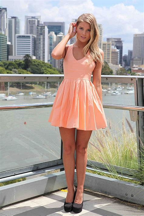 Mini Bow Back Dress orange mini dress bow back 183 guilty 183 store powered