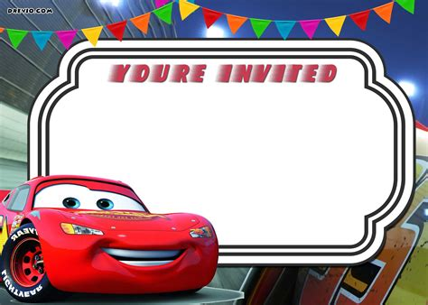 Cars Birthday Card Template by Free Printable Cars 3 Lightning Mcqueen Invitation