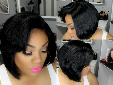 weavr for razor cut with bangs the gallery for gt feathered bobs for black women
