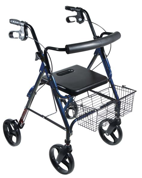 drive 4 wheel walker with seat dlite rollator walker with 8 quot wheels and loop brakes 4