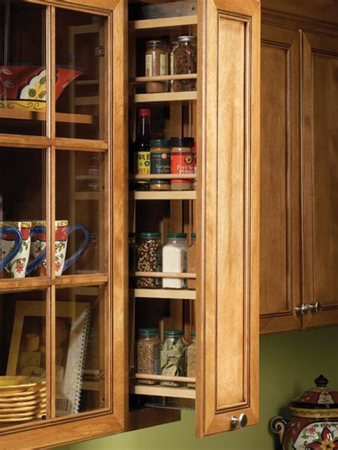 kitchen cabinet spice racks cabinet accessories for stock kitchen cabinetry bertch cabinets
