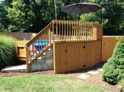 Above Ground Pool Deck Designs And Gazebos Doherty House Patio Decks Designs Pictures