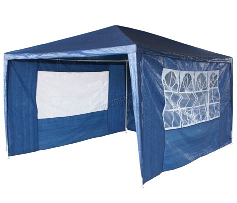 Waterproof Awning by Waterproof Blue 3m X 4m Outdoor Garden Gazebo Tent