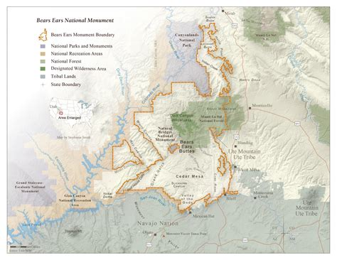 national monuments map bears ears national monument map grand trust