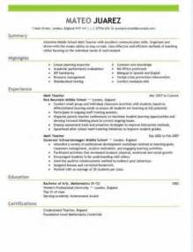 Free Resume Sles For Teachers by Resume Templates And How To