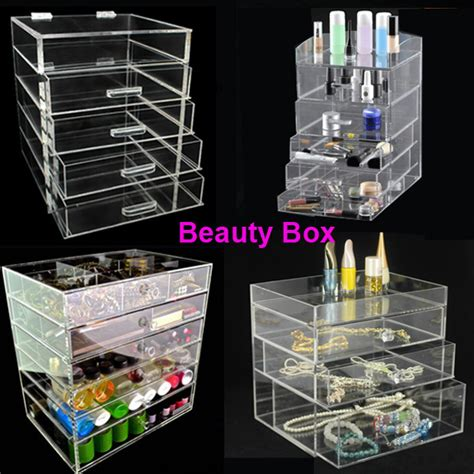 Custom Acrylic Make Up Box custom printed acrylic charms cosmetic box acrylic cube