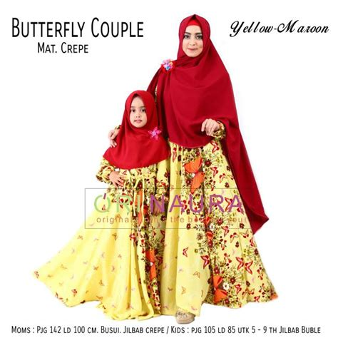Gamis Anak Zelva Orinaura murah n ori collection butterfly by orinaura