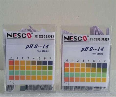 Ph Hidroponik By Bb Seed jual kertas ukur ph air ph test paper 100 nesco