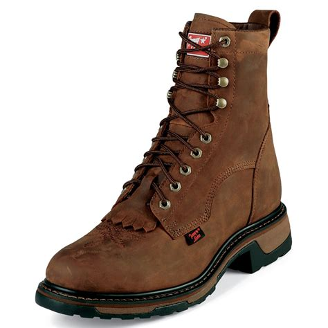 tony lama s tw2004 8 quot steel toe western work boot brown