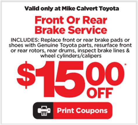 Mike Calvert Toyota Service Hours Mike Calvert Toyota Service Specials Help You Save