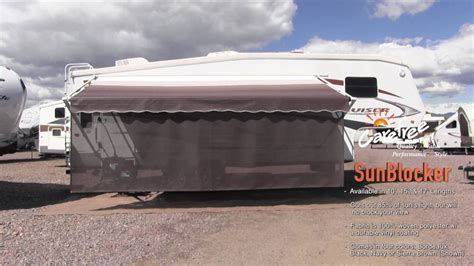rv awning sun blocker carefree of colorado sunblocker sideblocker youtube
