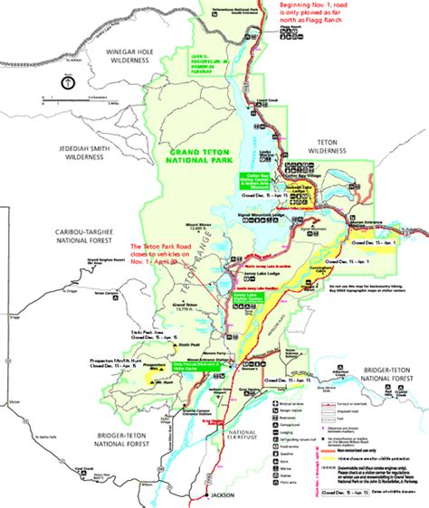 grand teton national park map grand teton national park map winter grand teton