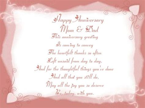 35th Wedding Anniversary Card Quotes by Happy Anniversary Cards For Parents Happy Anniversary