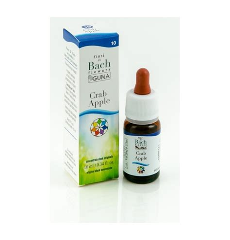 crab apple fiore di bach fiori di bach guna crab apple 10 ml