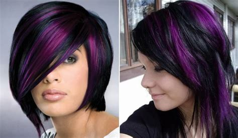Purple And Black Hairstyles by Trend Alert Black And Purple Hair Would You