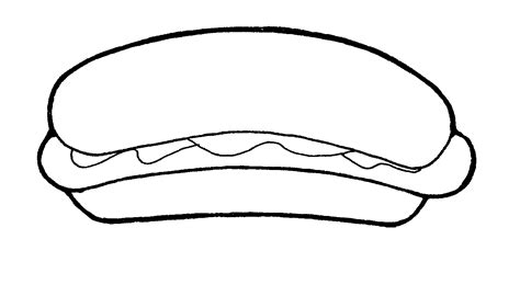 coloring pages of hot dogs clipart hot dog clipart best
