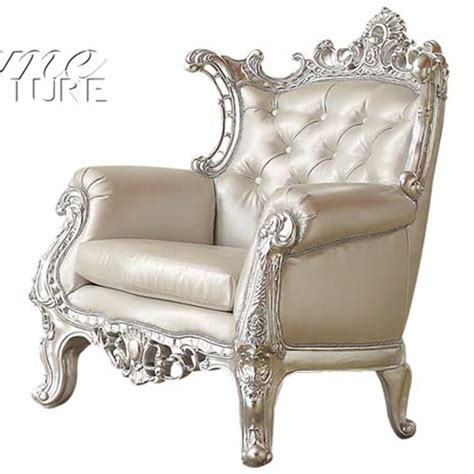 Silver Accent Chair Dreamfurniture 59125 Sanjay Silver Accent Chair
