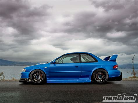 subaru gc8 1998 subaru impreza 2 5rs coupe modified magazine