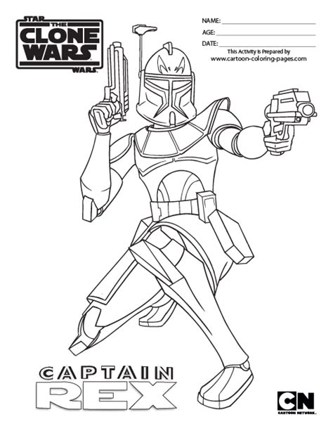 coloring pages of star wars the clone wars free the clone commander coloring pages