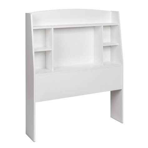 twin bookcase headboard in white whft 0401 1