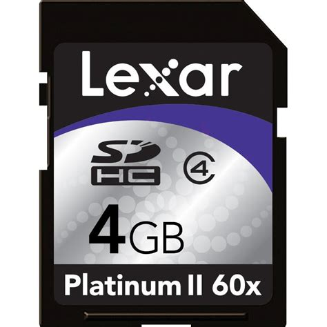 Ram Card 4gb lexar 4gb platinum ii sdhc memory card lsd4gbbsbna060 b h photo