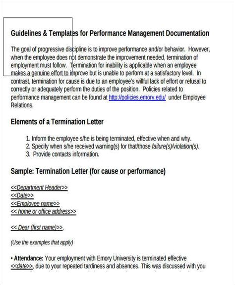 termination letter template poor performance lomer