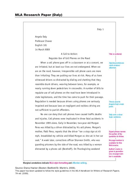 research paper template mla sle mla research paper
