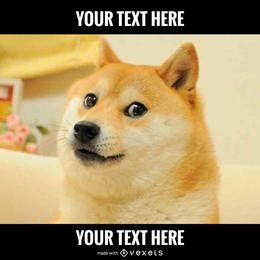 Doge Meme Generator - vexels editable designs