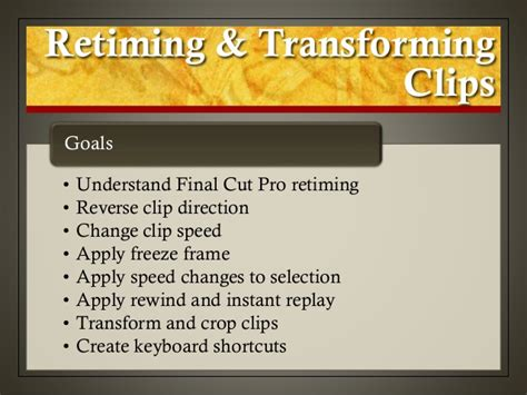 final cut pro reverse clip final cut pro x weynand certification lesson 10