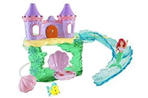 ariel bathtub toy amazon com disney princess ariel bath castle toys games