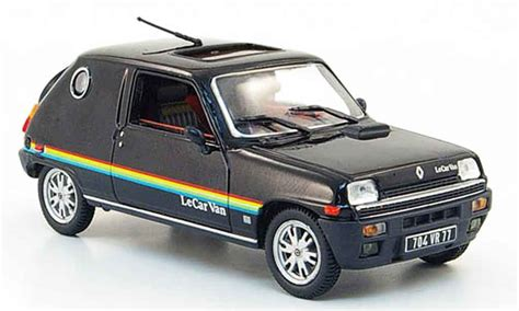 cars le renault 5 le car black 1979 nostalgie diecast model