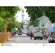 Streets Of Male Capital City Maldives Editorial