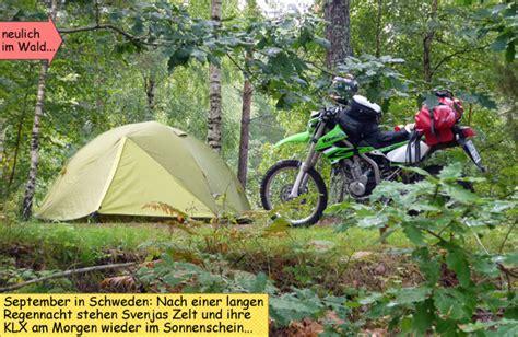 Motorrad Skandinavien by Endurowandern Mit Motorrad Zelt Und Schlafsack In