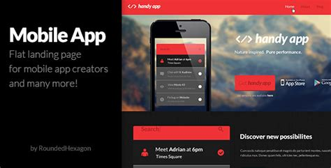 multipurpose flat mobile app psd template by