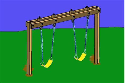 build swing frame diy swing set frame hang the swing assemblies on the eye